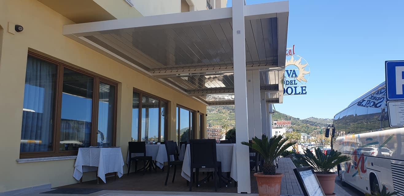 Dehor Hotel Riva del Sole Cefalù Pergole bioclimatiche