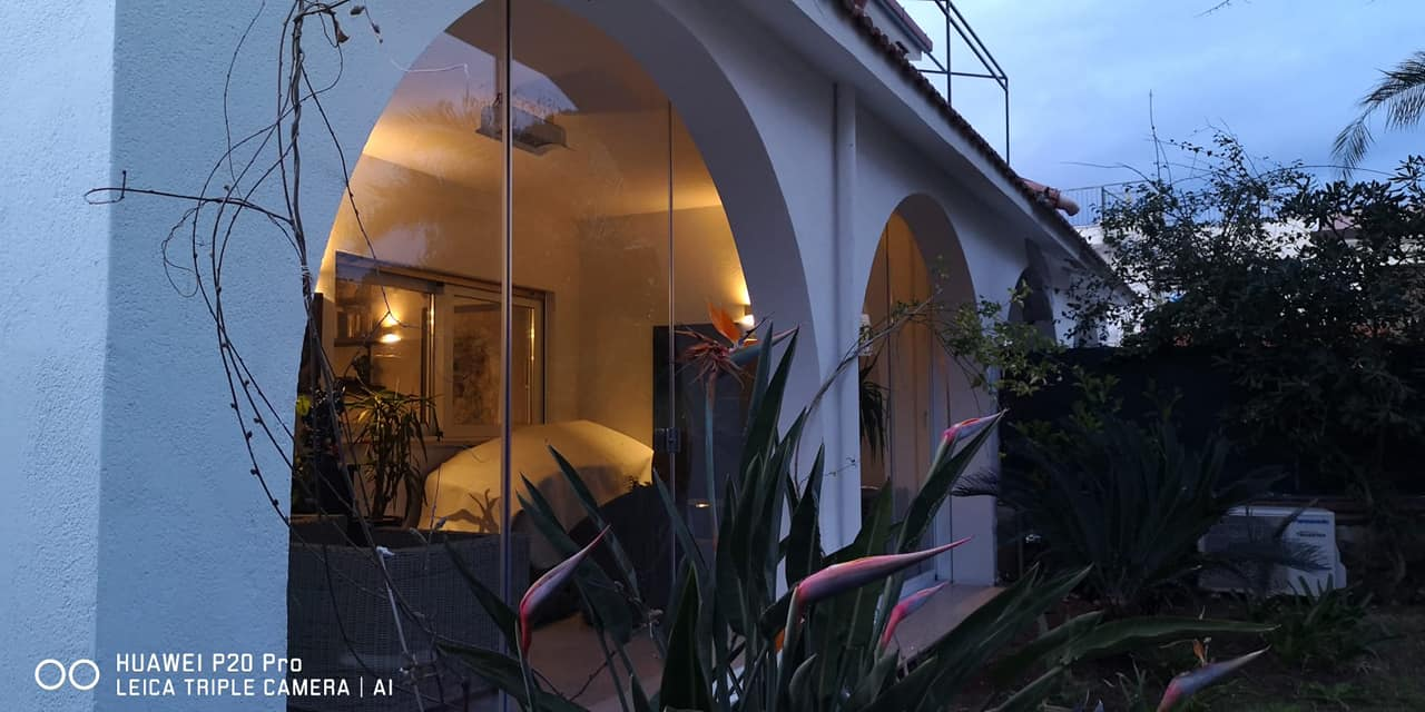 vetrata panoramica chiusura portico
