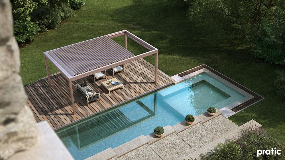 pergola e piscina